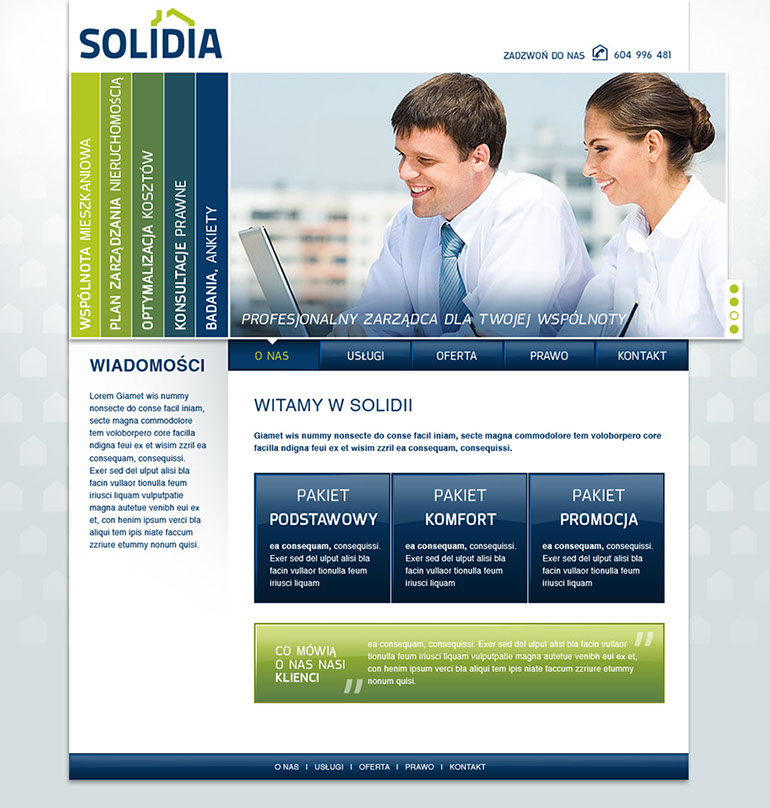 solidia-immobilien-webseite-layout